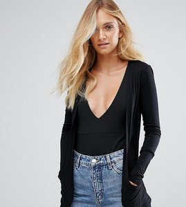 Read more about New look tall drape cardigan - black