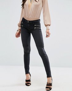 Read more about Lovers friends cole biker jeans with zips - black washed