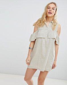 Read more about Deby debo jinette stripe shirt dress - ecru blk stripe