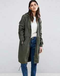 Read more about Asos wax fisherman rain mac - khaki