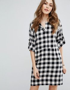 Read more about Warehouse gingham popper dress - multi