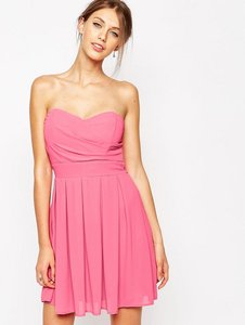 Read more about Tfnc prom dress in pleated chiffon - pink