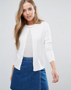 Read more about Only bella button up cardigan - white