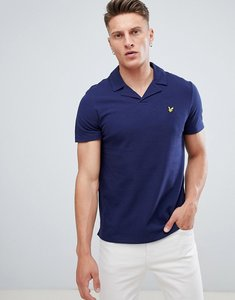 Read more about Lyle scott revere collar logo polo shirt in navy - z99