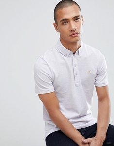 Read more about Farah merriweather slim fit marl polo in lilac - 504