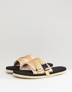 Read more about Asos slider sandals in stone with tape straps - stone