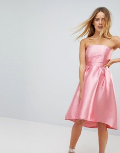 Read more about Vero moda strapless prom dress - pink
