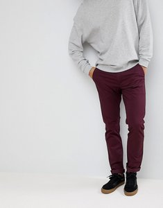 Read more about Farah elm slim fit twill chino in burgundy - 507 bordeaux