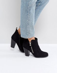 Read more about Call it spring kokes black heeled ankle boots - black
