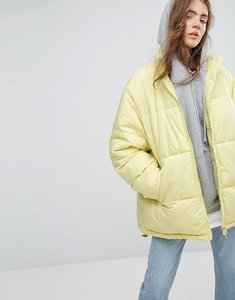 Read more about Weekday press collection padded jacket - greenish yellow