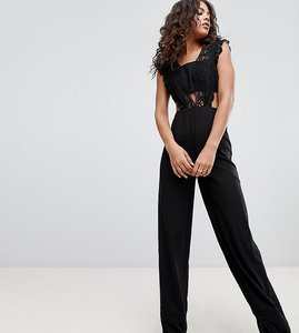 Read more about Asos design tall lace top jumpsuit with wide leg
