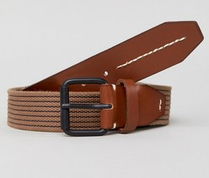 Read more about Jack jones taupe woven belt - sand