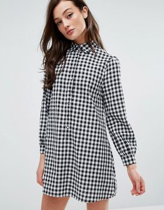 Read more about Fashion union shirt dress in gingham - gingham