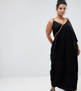 Read more about Asos curve drape hareem maxi dress - black