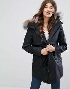 Read more about Parka london lara detachable fluffy lining parka - houndstooth