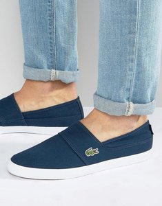 Read more about Lacoste marice slip on plimsolls - navy
