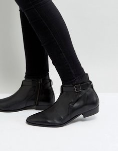 Read more about Walk london ziggy leather buckle boots - black