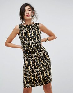 Read more about Love moschino heart anagram shift dress - heart monogram