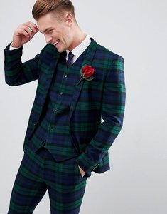 bbb137ad99d Read more about Asos design wedding super skinny suit jacket in blackwatch  tartan check