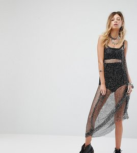 Read more about Sacred hawk maxi dress in glitter sequin mesh - black