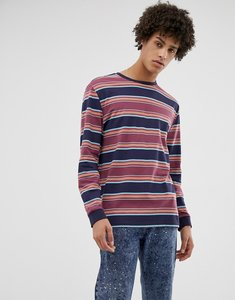 876ae443c66 Read more about Asos design organic cotton relaxed long sleeve t-shirt with  retro stripe