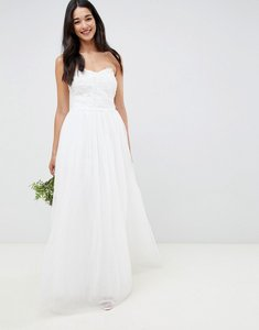 Read more about Little mistress bandeau princess wedding dress with embellished detail