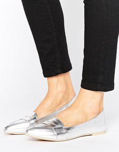 Read more about Lost ink silver point loafers - silver