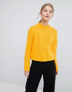 Read more about Selected femme knitted high neck jumper - citrus