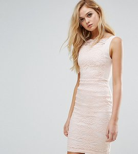 Read more about Vesper lace pencil dress with scallop lace bodice - blush