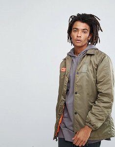 Read more about Maharishi oversized coach jacket in khaki with back print - khaki