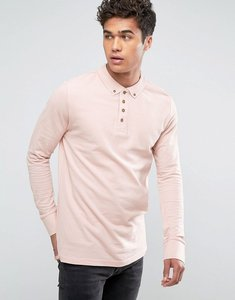 Read more about Brave soul long sleeve pique polo shirt - pink