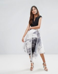 Read more about Coast organza full midi dress - mono