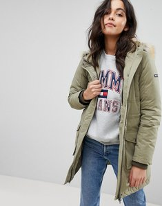 Read more about Tommy hilfiger denim down parka jacket - covert green