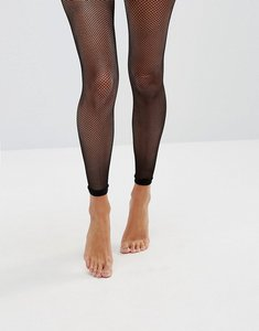 Read more about Asos footless fishnet tights - black