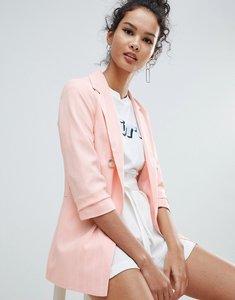 Read more about Miss selfridge pinstripe blazer - pink stripe