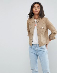 Read more about Levis suede trucker jacket - suede british khak