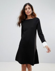 Read more about French connection lula cuffed slash neck dress - black summer white