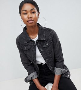 Read more about Liquor n poker girlfriend denim jacket - washed black