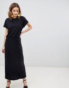 Read more about Vero moda short sleeve maxi dress - black