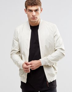 Read more about Pretty green bomber jacket in white - stone