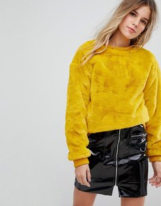 Read more about Bershka furry jumper - yellow