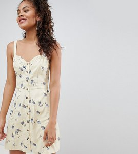 Read more about Asos design tall mini sundress in ditsy floral print - multi