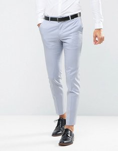 Read more about Asos wedding skinny suit trousers in 100 wool in ice blue - light blue
