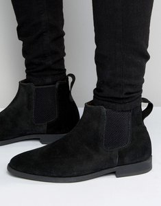 Read more about Kg by kurt geiger guildford chelsea boot in black suede - black
