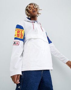 Read more about Polo ralph lauren cp-93 capsule limited edition overhead hooded jacket back applique in white - anti