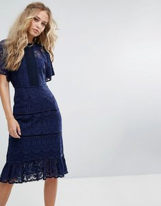 Read more about Foxiedox lace panel midi dress - navy