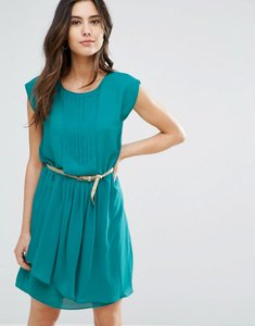 Read more about Louche shari belted pleat front dress - teal