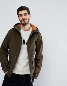 Read more about Barbour medway hooded zip through jacket in olive - olive