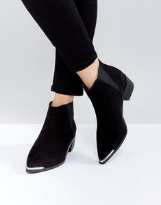 Read more about Asos admission pointed ankle boots - black