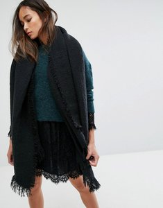 Read more about Seint oversized blanket scarf in black - black